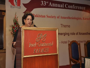 Dr. Nighat Abbas Presenting her invited talk