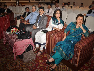 Senior faculty members listening the invited talks