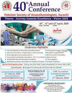 Poster PSA 40th Annual Conference
